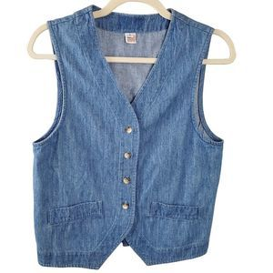 Vintage Denim Vest Made in the USA Size Small
